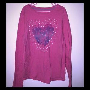 Girls shirt with heart